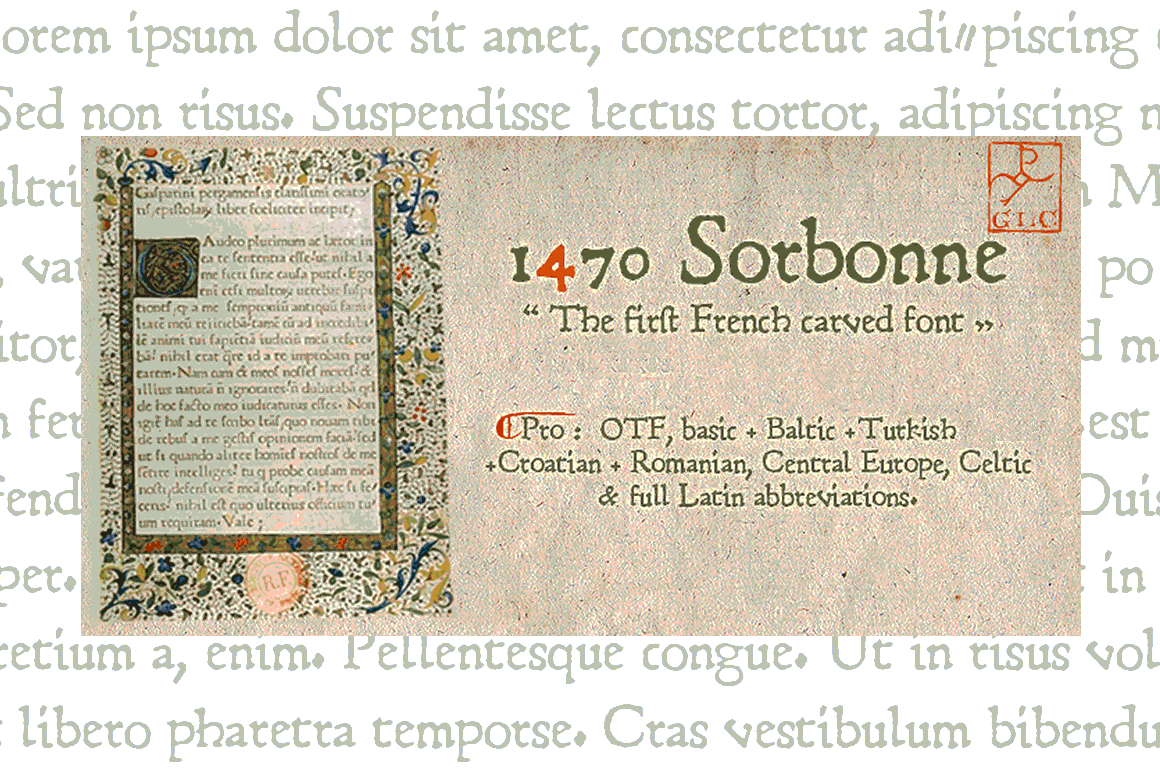 Print on Demand: 1470 Sorbonne Pro Serif Font By GLC Foundry
