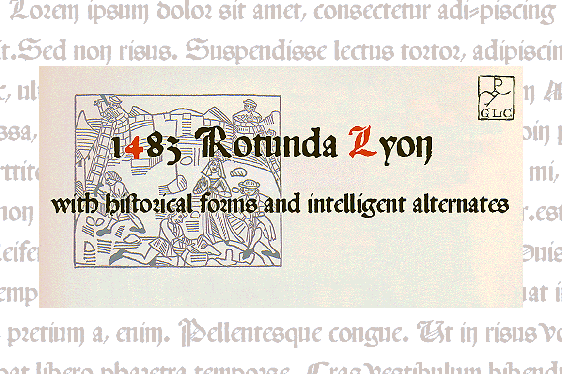 Print on Demand: 1483 Rotunda Lyon Blackletter Font By GLC Foundry - Image 1