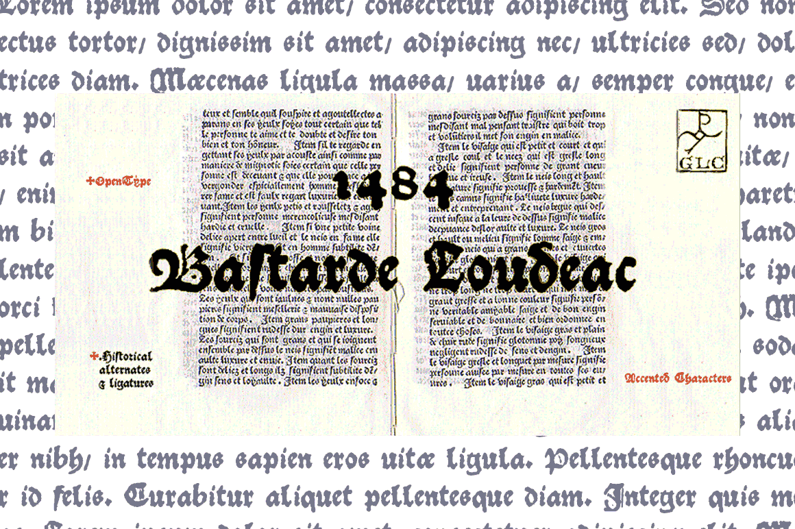 Print on Demand: 1484 Bastarde Louceac Blackletter Font By GLC Foundry