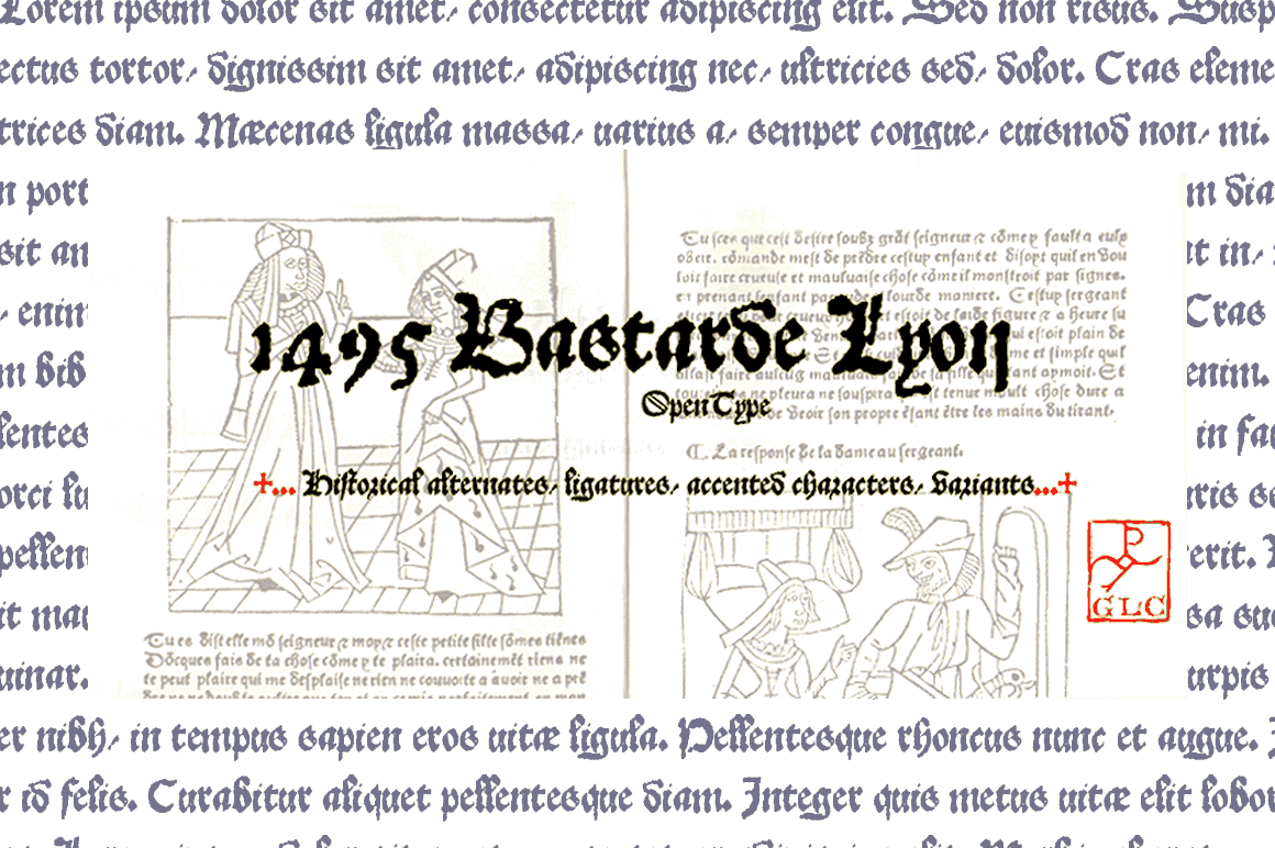 Print on Demand: 1495 Bastarde Lyon V2 Blackletter Font By GLC Foundry