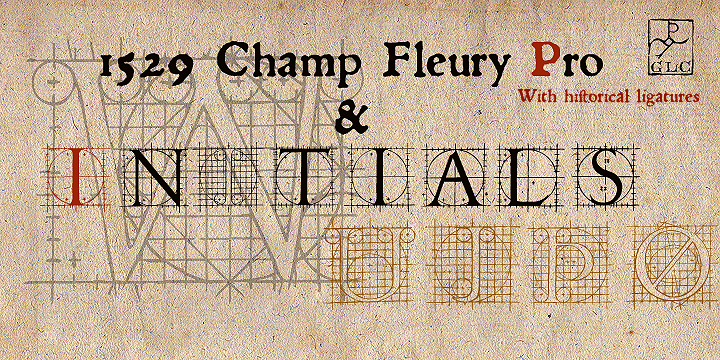 Print on Demand: 1529 Champ Fleury Family Decorative Font By GLC Foundry