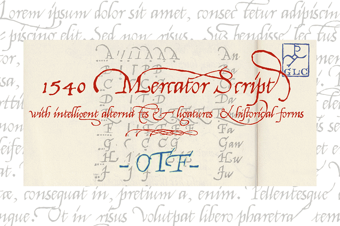 Print on Demand: 1540 Mercator Script Script & Handwritten Font By GLC Foundry