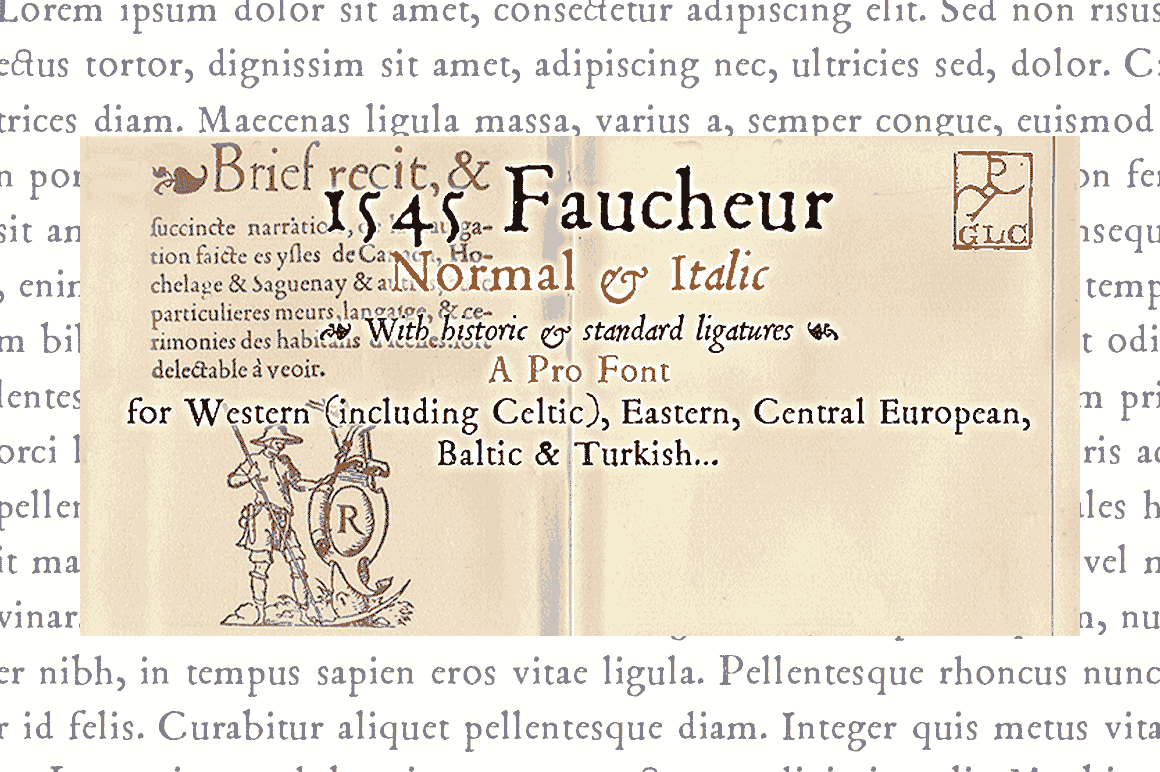 1545 Faucheur Font By GLC Foundry