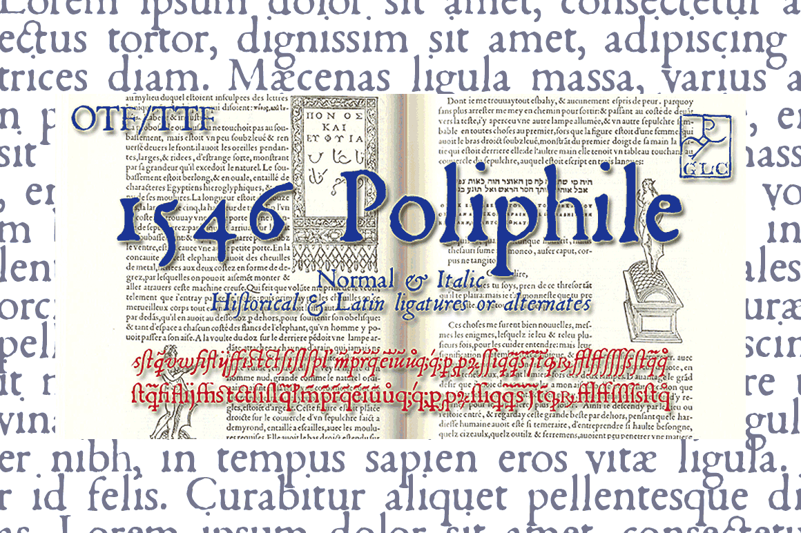 Print on Demand: 1546 Poliphile Family Serif Font By GLC Foundry