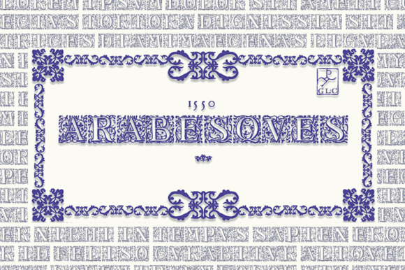 Print on Demand: 1550 Arabesques Decorative Font By GLC Foundry