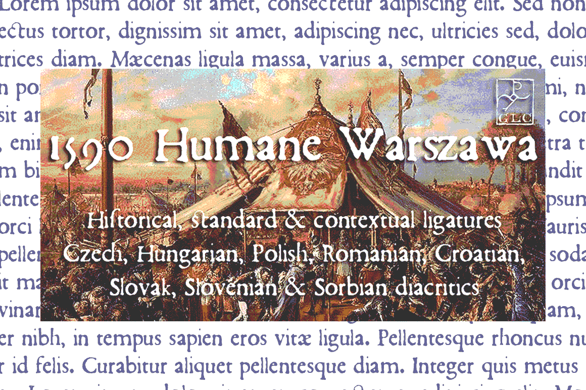 Print on Demand: 1590 Humane Warszawa Serif Font By GLC Foundry