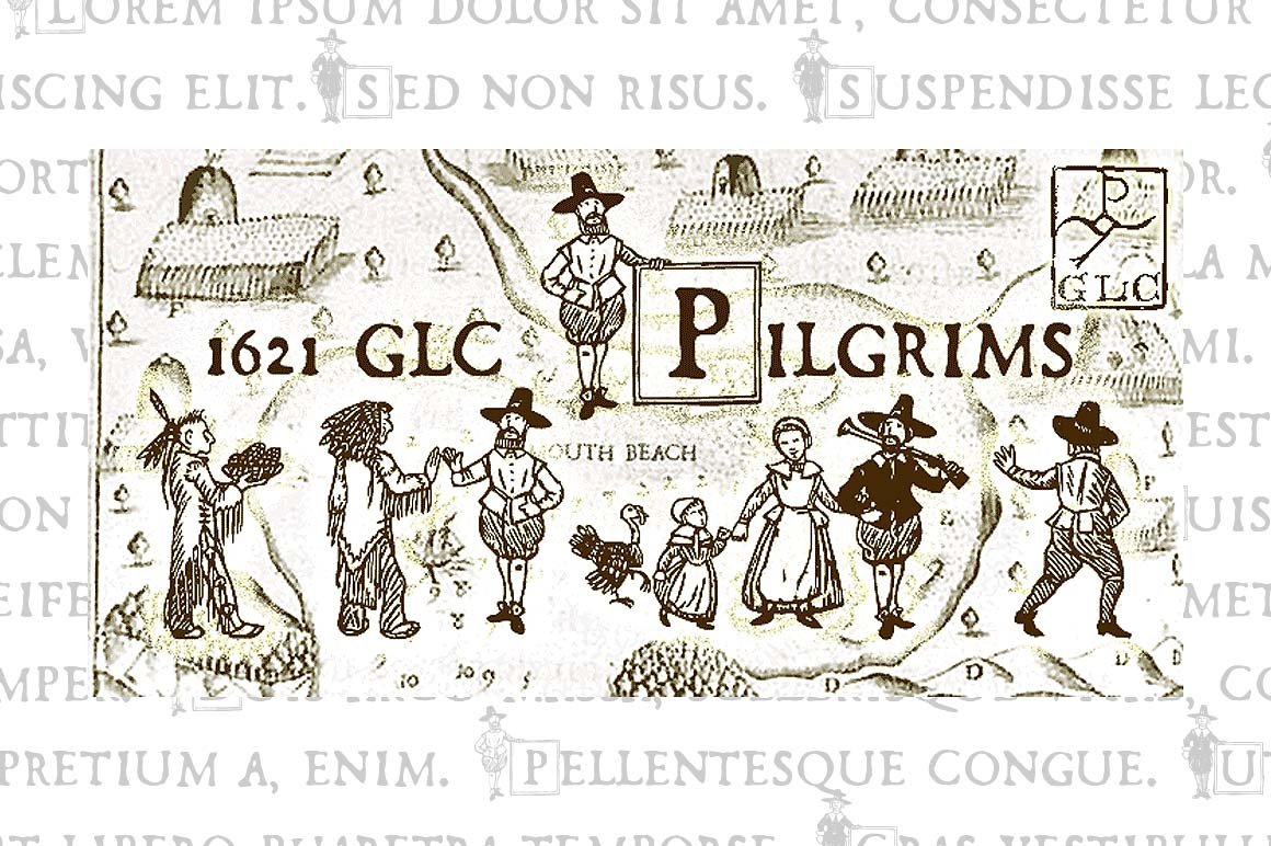 1612 GLC Pilgrims Decorative Font By GLC Foundry