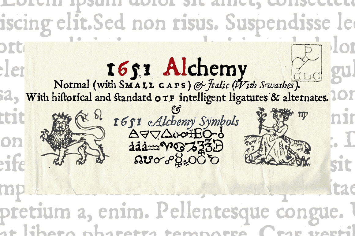 Print on Demand: 1651 Alchemy Family Serif Font By GLC Foundry
