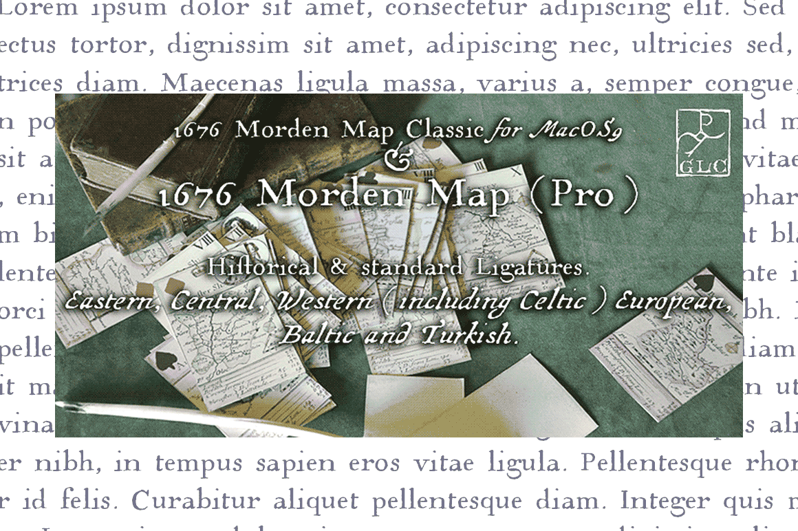 1676 Morden Map Pro Font By GLC Foundry