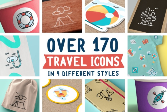 170 Travel Icons Graphic Icons By brandsparkdesigns
