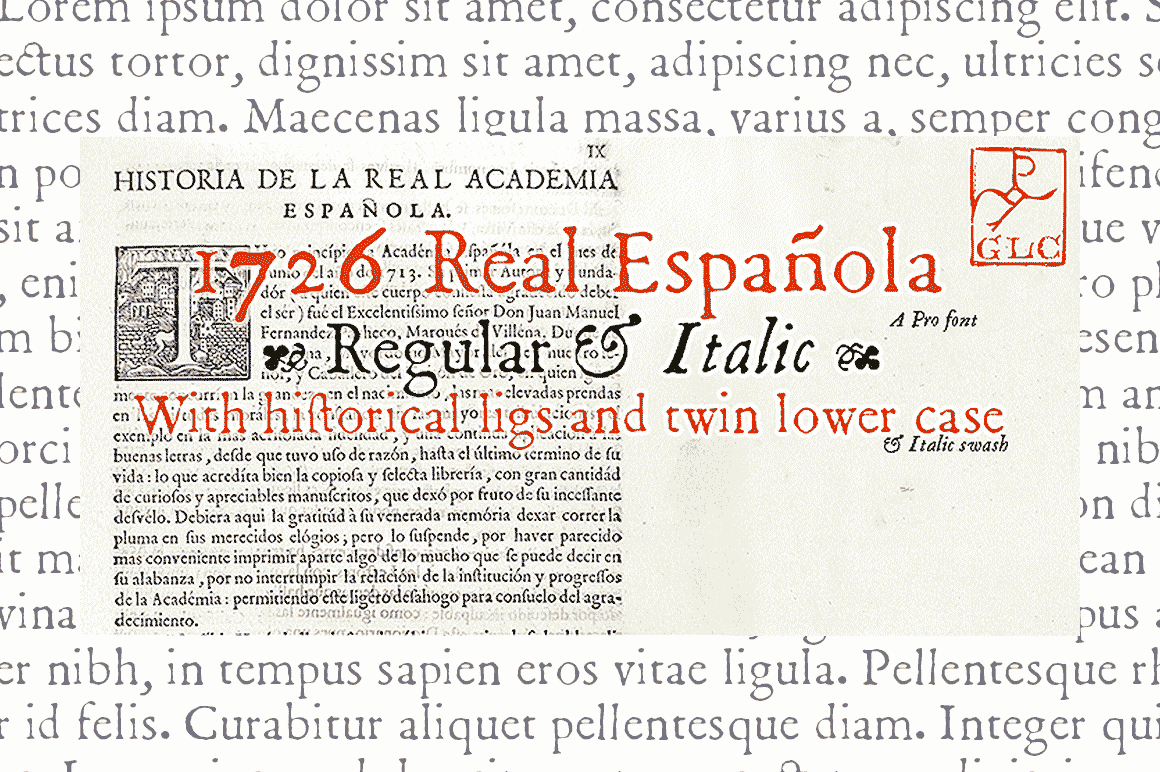 Print on Demand: 1726 Real Espanola Family Serif Font By GLC Foundry