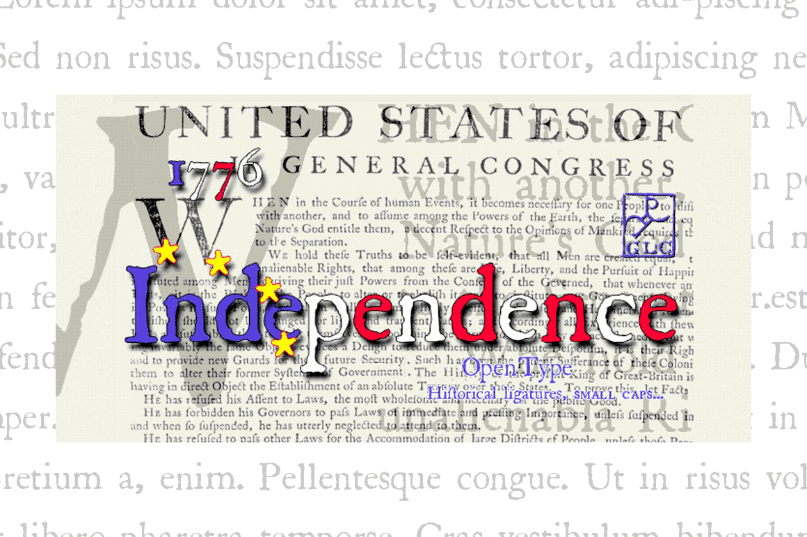 Print on Demand: 1776 Independence Serif Font By GLC Foundry