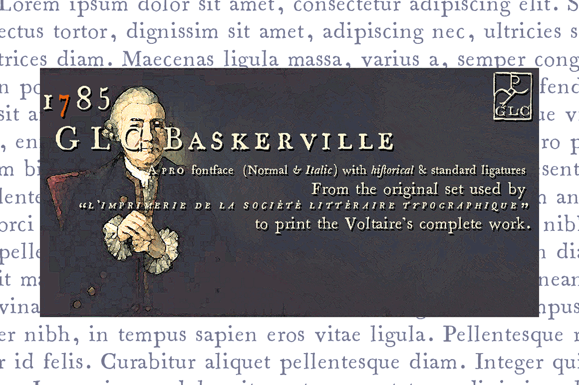 Print on Demand: 1785 GLC Baskerville Family Serif Font By GLC Foundry