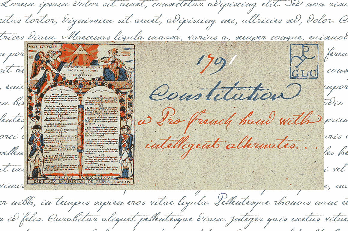 Print on Demand: 1791 Constitution Script & Handwritten Font By GLC Foundry