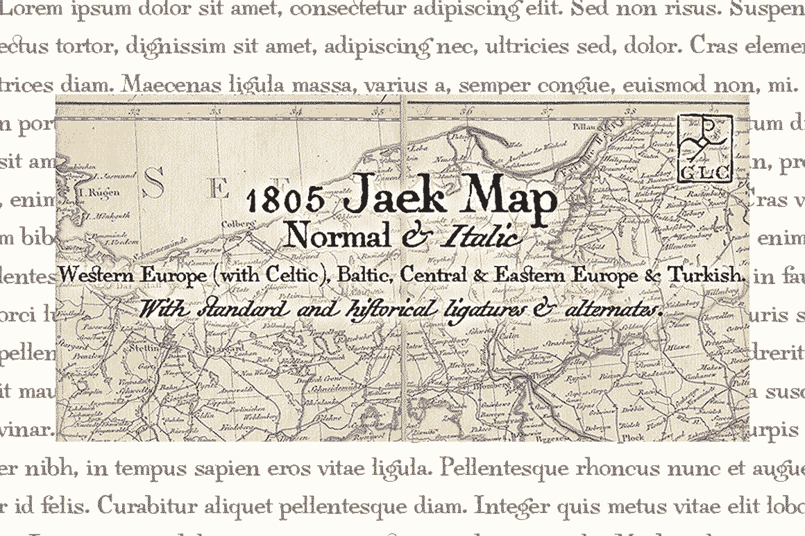 Print on Demand: 1805 Jaek Map Serif Font By GLC Foundry