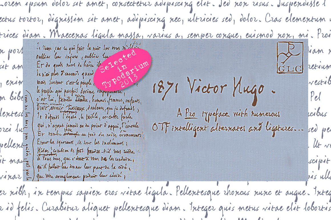 1871 Victor Hugo Font By GLC Foundry