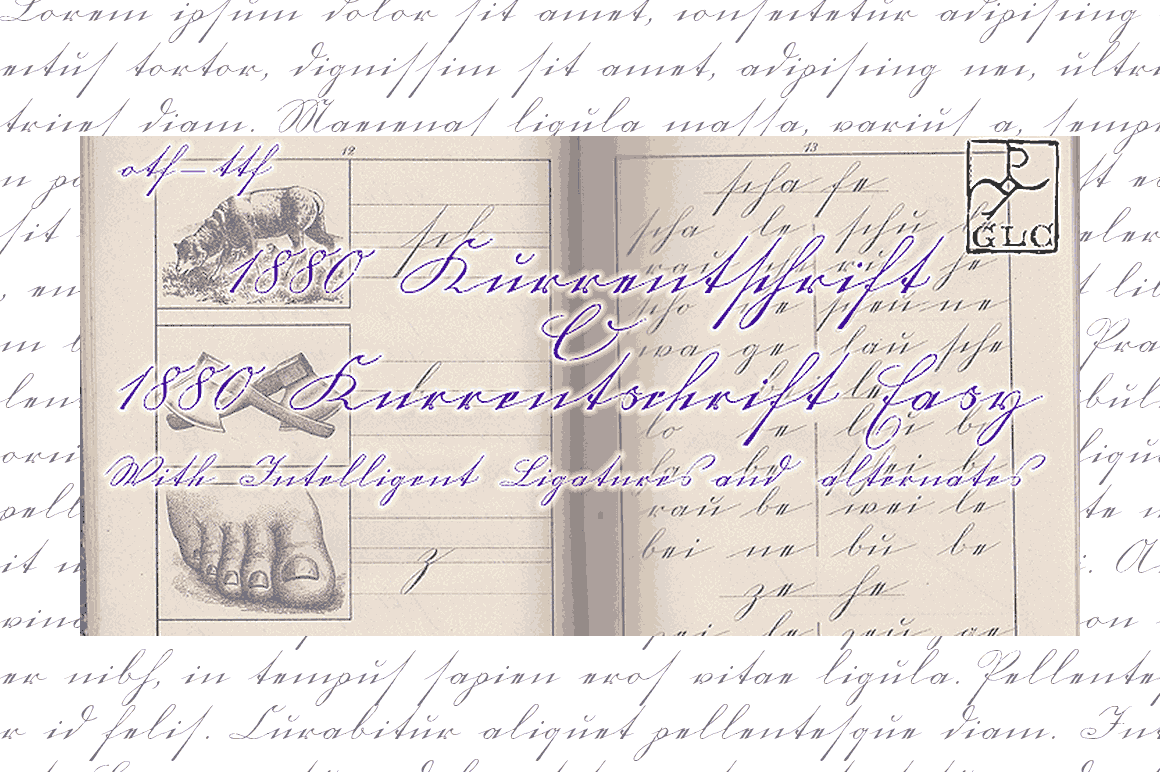 1880 Kurrentschrift Font By GLC Foundry