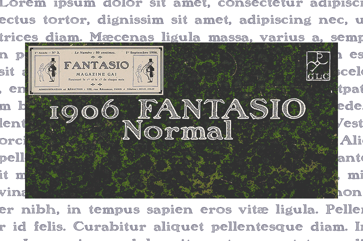 Print on Demand: 1906 Fantasio Serif Font By GLC Foundry