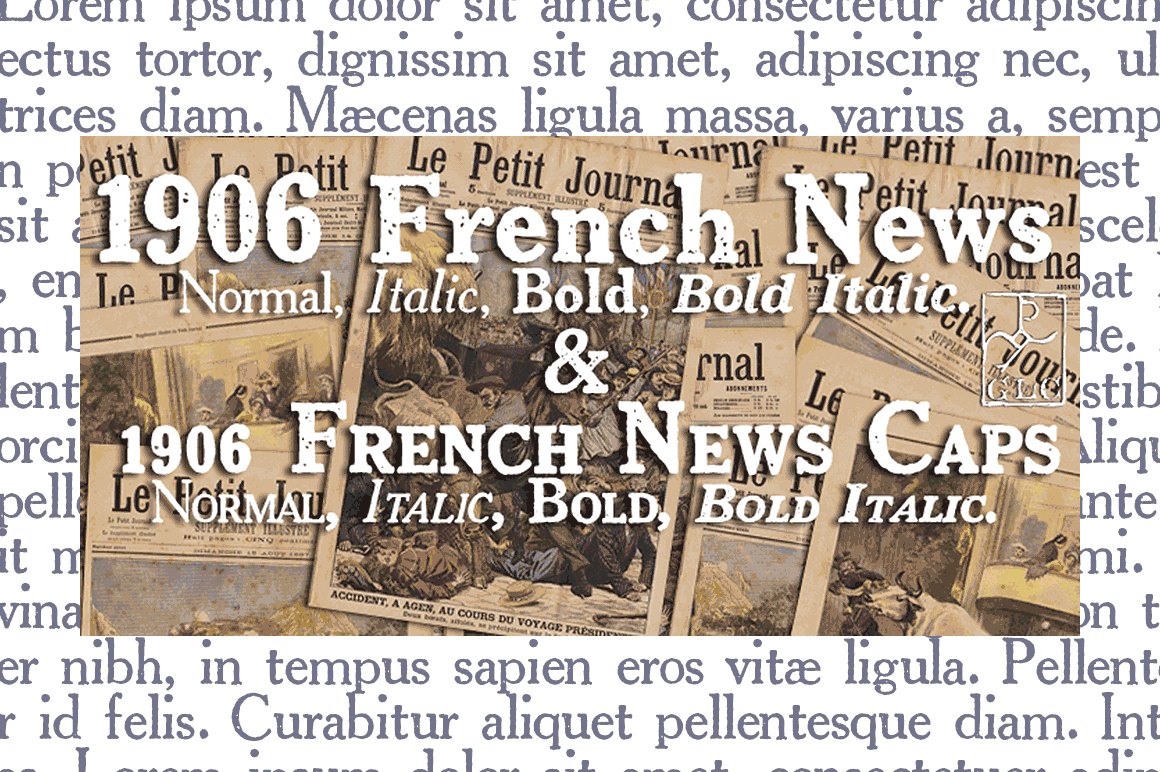 1906 French News Family Font By GLC Foundry