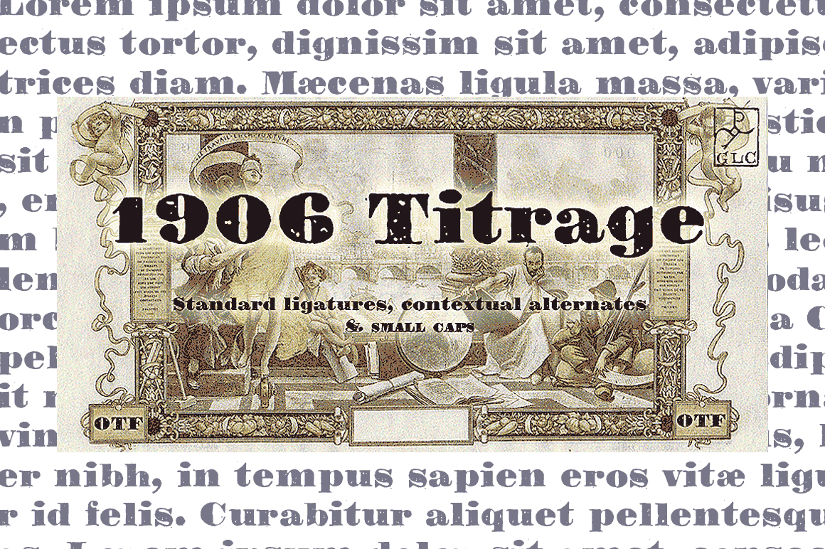 Print on Demand: 1906 Titrage Display Font By GLC Foundry - Image 1