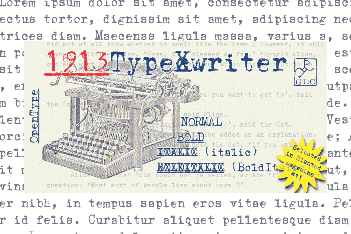 1913 Typewriter Font By GLC Foundry Image 5