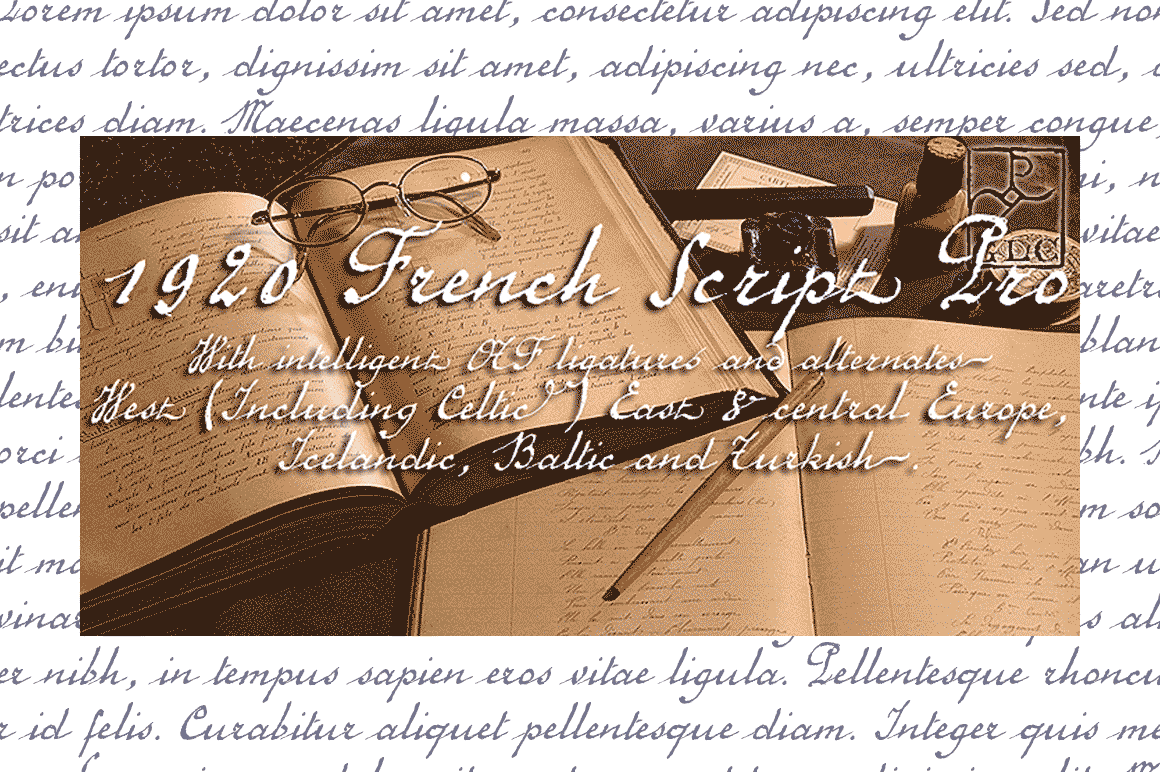 Print on Demand: 1920 French Script Pro Script & Handwritten Font By GLC Foundry