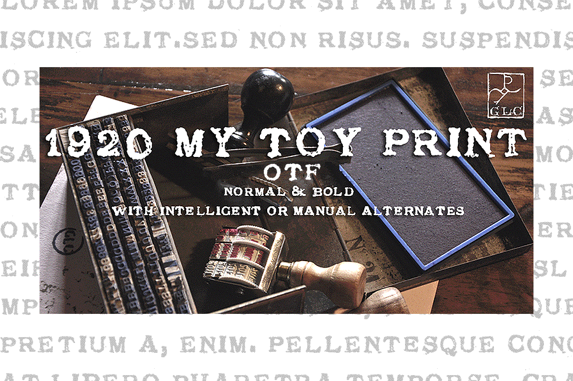 1920 My Toy Print Family Font By GLC Foundry