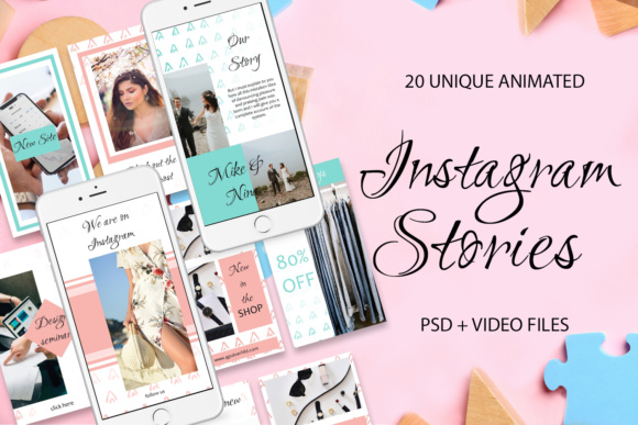 20 ANIMATED Instagram Stories Graphic Websites By tregubova.jul