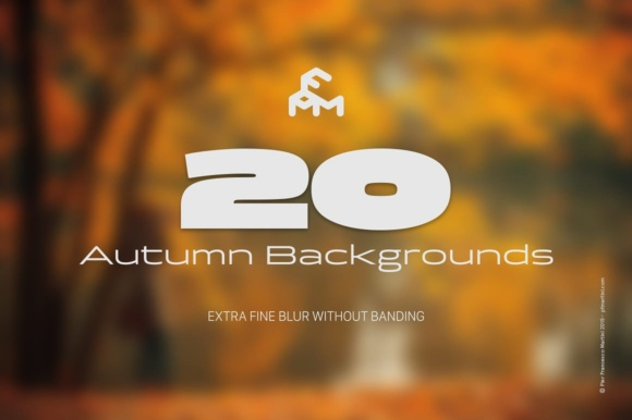 Print on Demand: 20 Autumn Blurred Backgrounds Graphic Backgrounds By pfmartini