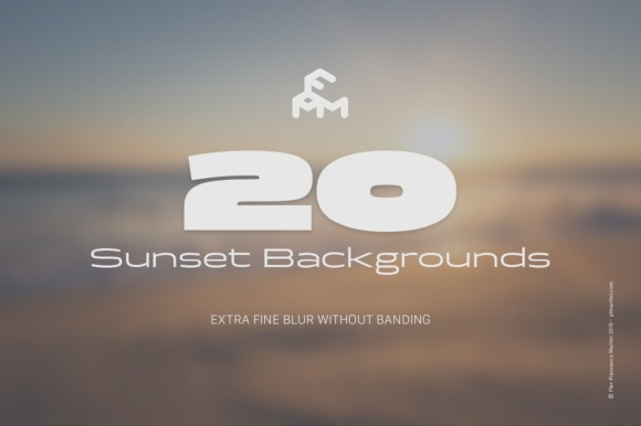 Print on Demand: 20 Blurred Sunset (Backgrounds) Graphic Backgrounds By pfmartini