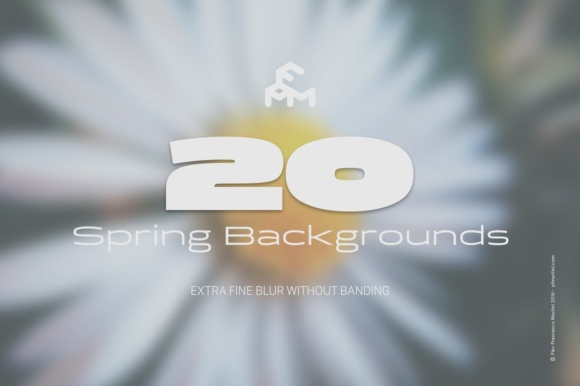 Print on Demand: 20 Spring Blurred Backgrounds Graphic Backgrounds By pfmartini