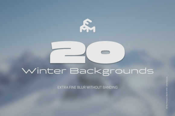 Print on Demand: 20 Winter Blurred Backgrounds Graphic Backgrounds By pfmartini