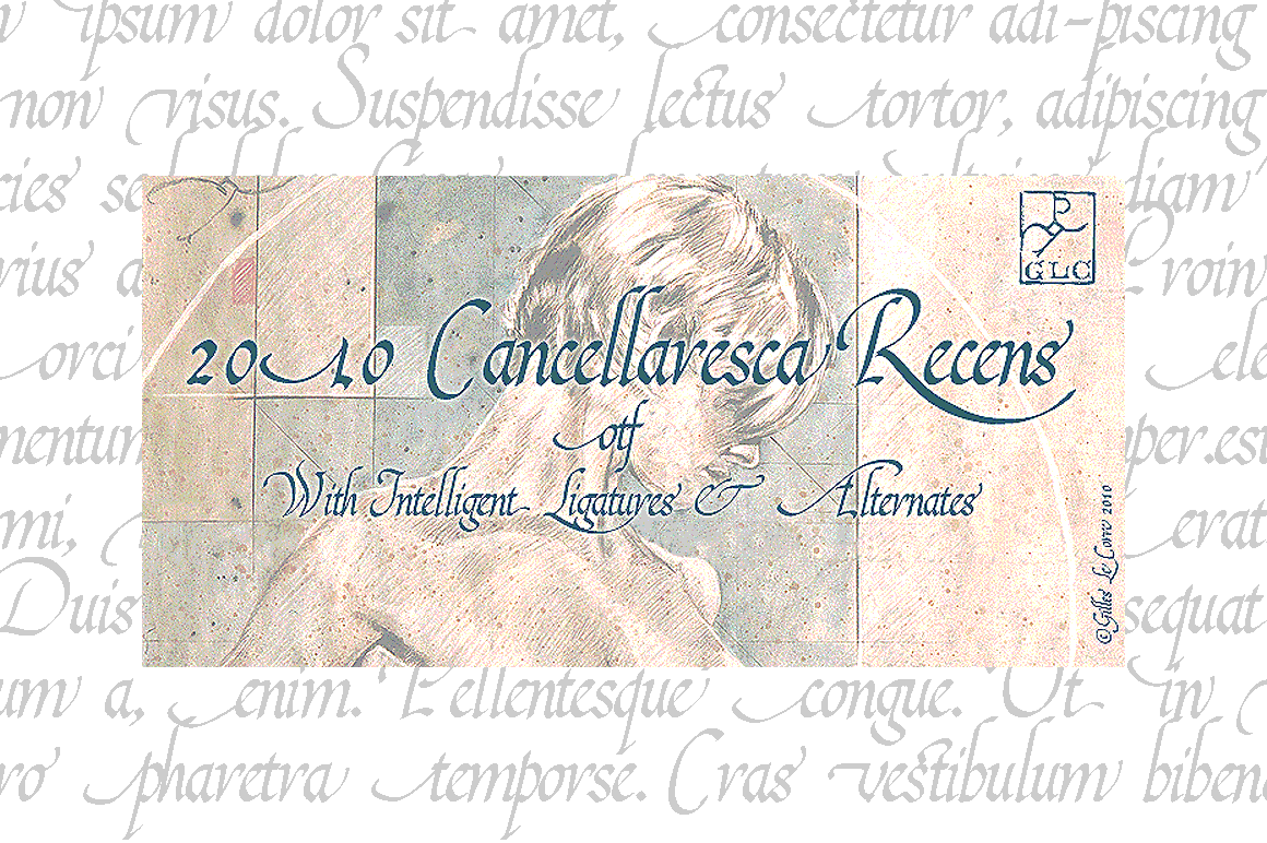 Print on Demand: 2010 Cancellaresca Recens Script & Handwritten Font By GLC Foundry