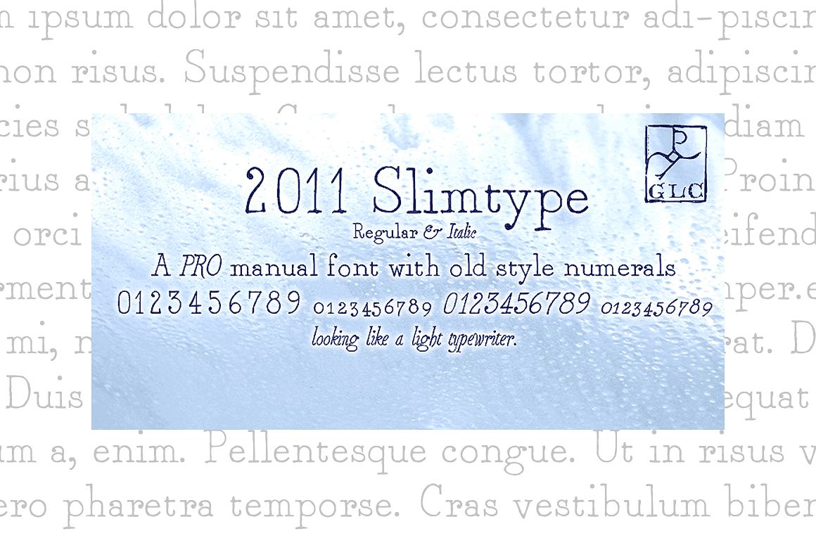 Print on Demand: 2011 Slimtype Family Slab Serif Font By GLC Foundry