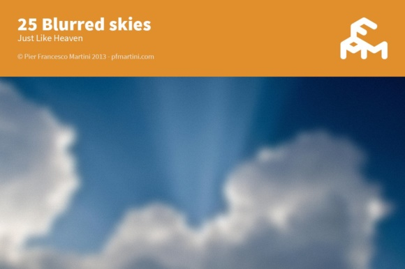 Print on Demand: 25 Blurred Skies Graphic Backgrounds By pfmartini