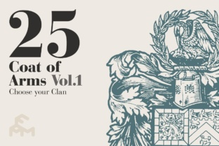 Print on Demand: 25 Coat of Arms - Vol.1 Graphic Illustrations By pfmartini