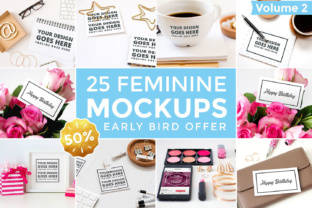 25 Feminine Mockups Graphic By brandsparkdesigns