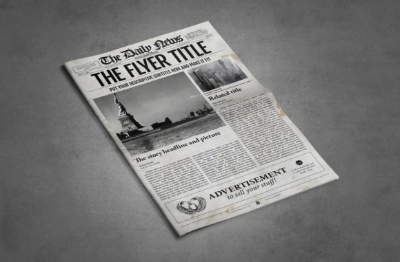 Download Free 1 Page Newspaper Template Illustrator Graphic By Newspaper for Cricut Explore, Silhouette and other cutting machines.
