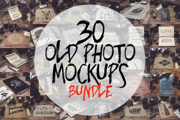 30 Old Photo Mockups Graphic Product Mockups By SmartDesigns