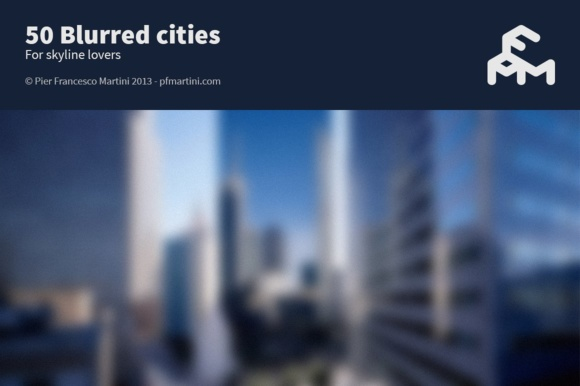 Print on Demand: 50 Blurred Cities Graphic Backgrounds By pfmartini
