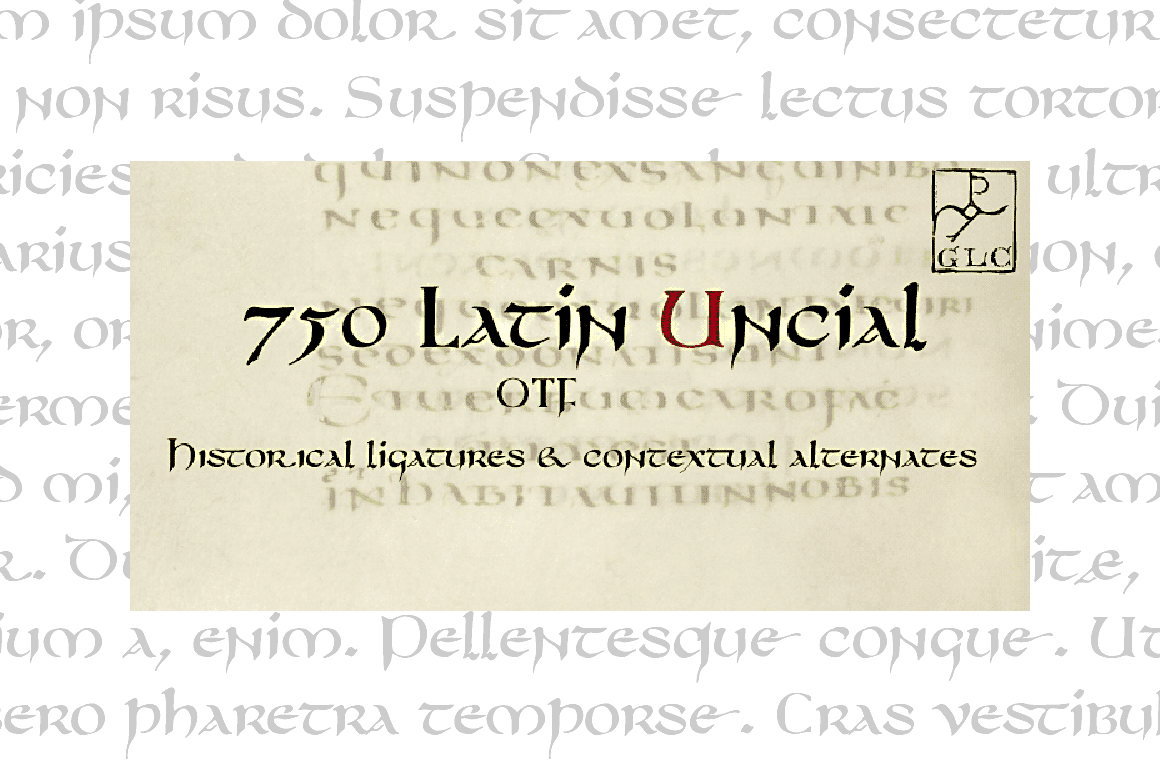 Print on Demand: 750 Latin Uncial Serif Font By GLC Foundry
