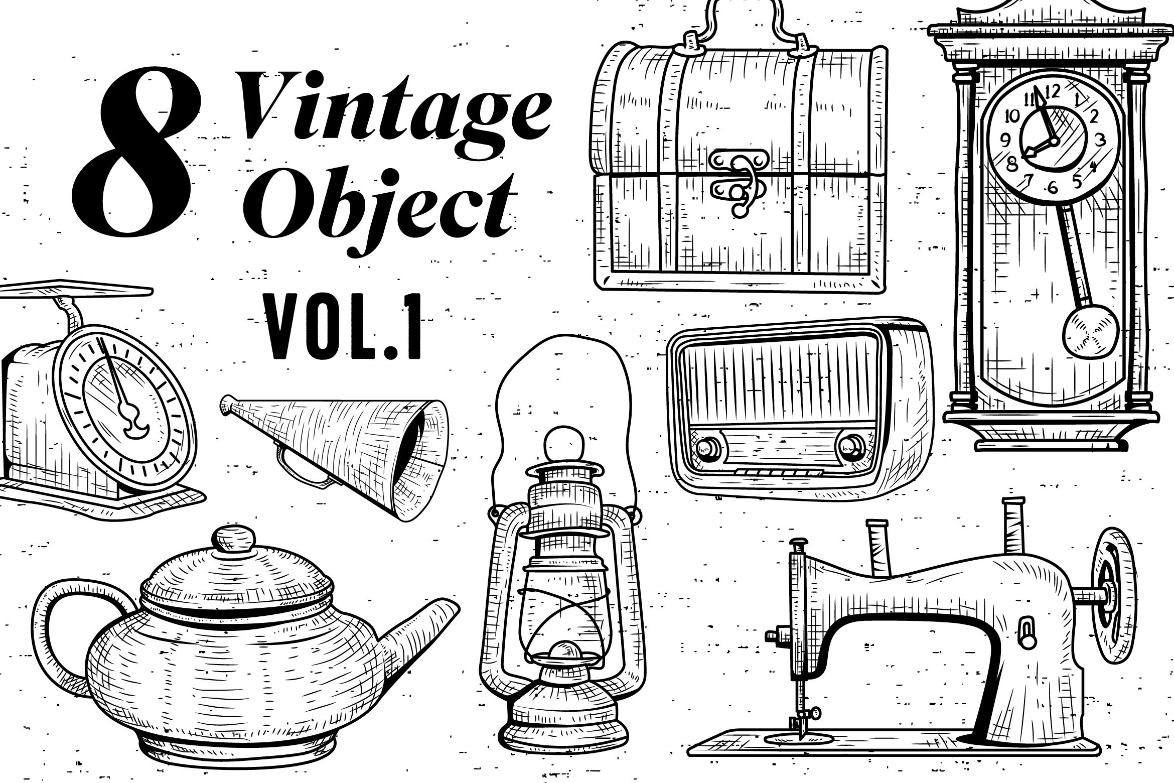 8 Vintage Object - Vol.1 Graphic By storictype