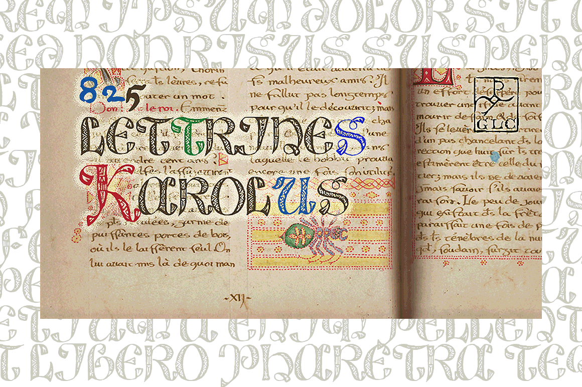Print on Demand: 825 Lettrines Karolus Dekorativ Schriftarten von GLC Foundry