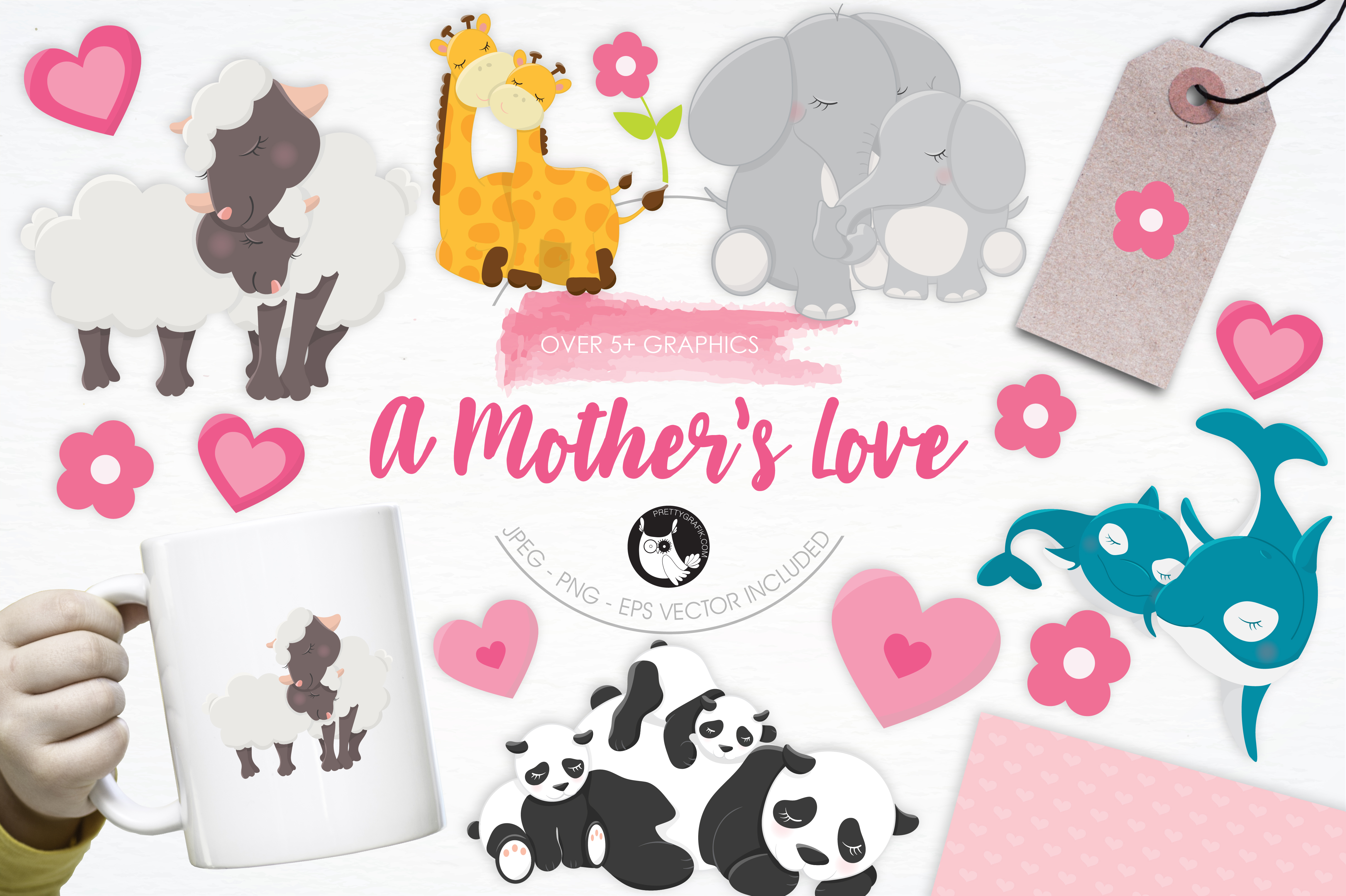 Print on Demand: A Mother's Love Graphic Illustrations By Prettygrafik