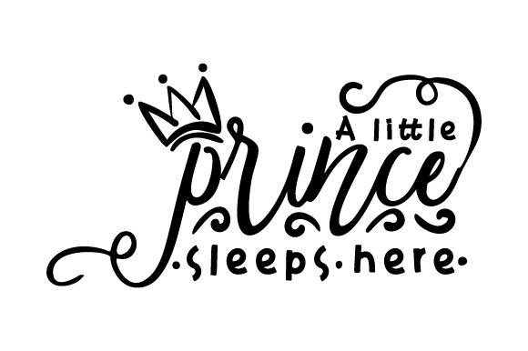 A Little Prince Sleeps Here Schlafzimmer Plotterdatei von Creative Fabrica Crafts