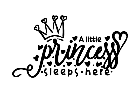 A Little Princess Sleeps Here Schlafzimmer Plotterdatei von Creative Fabrica Crafts