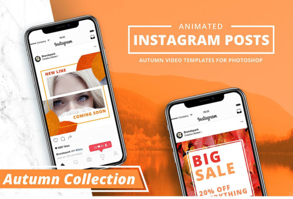 ANIMATED - Autumn Instagram Posts Graphic By brandsparkdesigns