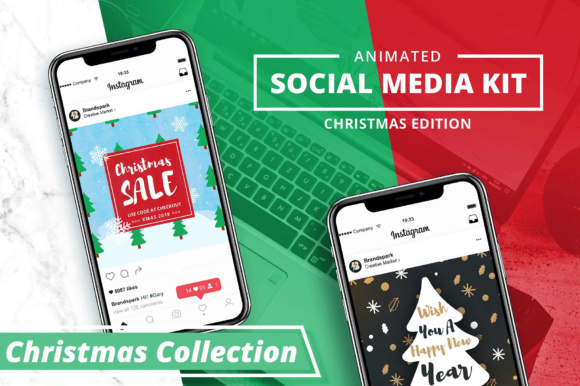 ANIMATED - Christmas Instagram Posts Graphic By brandsparkdesigns