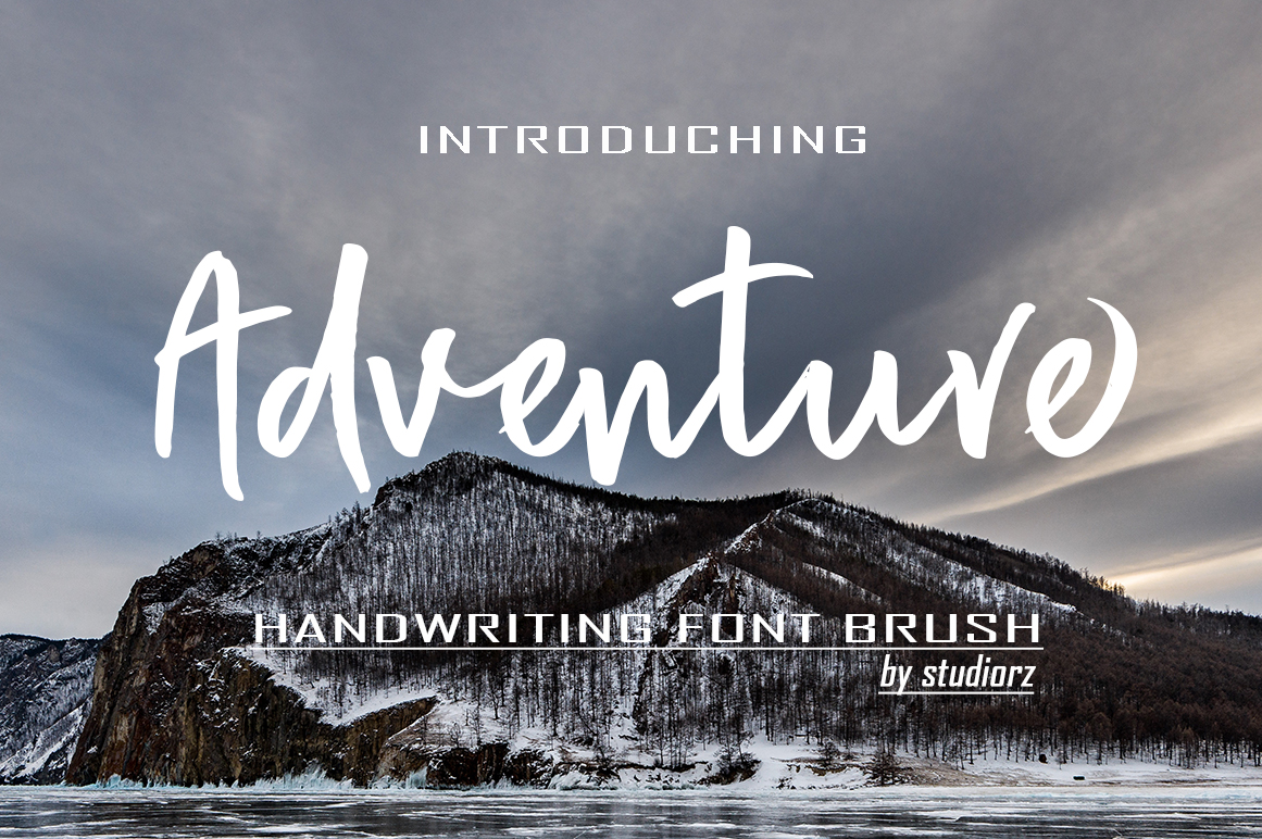 Print on Demand: Adventure Script & Handwritten Font By StudioRz - Image 1