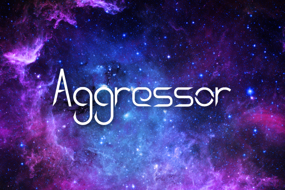 Aggressor Font By Nermin Kahrimanovic